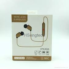 portable stereo fashion stn820a ear hook wireless sports earbuds stn 820a 5
