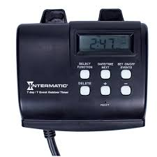 intermatic hb880r 15 amp outdoor digital timer for control of lights decorations pumps or fans with astronomic self adjust electrical timers