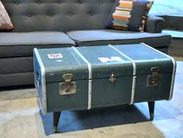 steamer trunk coffee table uk px antique one diy pottery barn chest suzannawinter with stools underneath