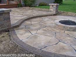 fire pit patio concrete overlay findlay