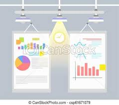 Statistical Charts And Graphs Vector Illustration