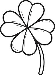 Small Picture Free Printable Four Leaf Clover Coloring Page for Kids