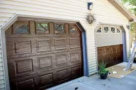 gel stain garage doors to revitalize