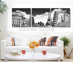 3 piece free shipping home decoration wall art printed canvas oil painting picture paris new york on home decor wall art au with 3 piece free shipping home decoration wall art printed canvas oil