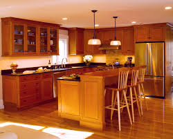 Cherry Or Maple Cabinets Cherry Kitchen Cabinets White Appliances Beautiful Accents Of