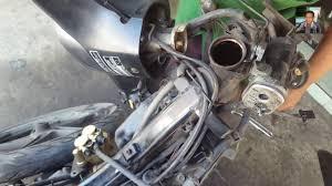 cara mengganti kones stir pada motor yang benar