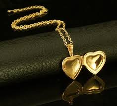 valentine gift 18k gold plated cubic zircon cute heart locket pendant necklace set 18kgp stamp souq uae