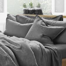 Pure Linen Duvet Cover - Sweetgalas & Pure Linen Quilt Cover Set In Storm The Third Row Adamdwight.com