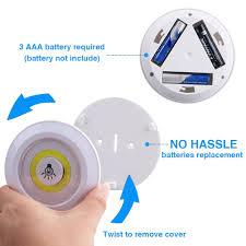 Bộ 3 đèn led dán gắn tường tủ bếp quần áo có điều khiển từ xa chiếu sáng  không dây dùng pin