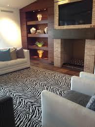 kenya zebra area rug contemporary living room