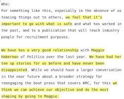 wikileaks office. The Clinton Campaign Office, Wrong Or Rightly, Saw Maggie Haberman As Their  Pet, This Internal Email, Published By @WikiLeaks Makes Clear: Wikileaks Office E