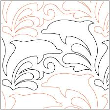 Dolphin Dance quilting pantograph pattern by Lorien Quilting & Dolphin-Dance-quilting-pantograph-pattern-Lorien-Quilting ... Adamdwight.com