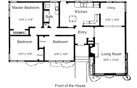 draw house plans for free. Plans For 3 Bedroom, 1 Bathroom House Draw Free I