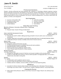 Template Psychology Resume Examples Samples Template Assistant