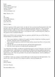 Sample Technology Resume Cover Letter Surgical Technologist Resume