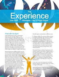 Day Of Pentecost Spring Christian Newsletter Template