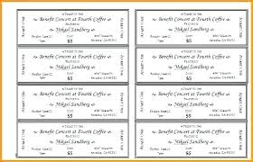 Create Tickets In Word Free Raffle Ticket Template Word Format Event Tickets Photo