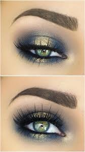10 great eye makeup ideas for green eyes spotlight halo y eye in navy blue gold