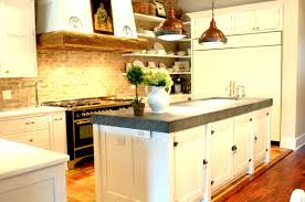 rustic copper pendant lamps over the kitchen island