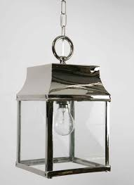 polished nickel strathmore hanging outdoor porch lantern