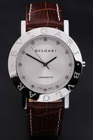 bvlgari automatic white dial stainless steel leather mens watch bvlgari automatic white dial stainless steel leather mens watch profile photo