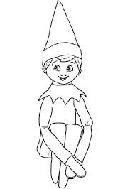 Small Picture Christmas Elf on Shelf coloring page Free Printable Coloring Pages