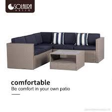solaura outdoor 4 piece sofa sectional