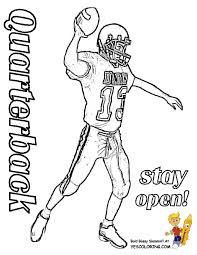 Small Picture Classic Football Coloring Free Quarterback Kids Football