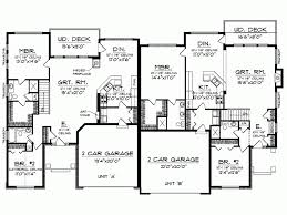 Eplans Ranch House Plan   One Story Traditional Duplex      Level
