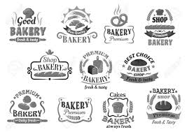 Bread And Pastry Cakes Bakery Vector Icons Set Royalty Free Cliparts