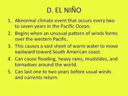 What Unusual Pattern Occurs During El Niño Delectable Currents And Climates 48Current Large Stream Of Moving Water That