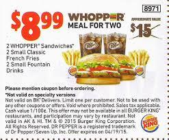 Gutschein coupons burger king