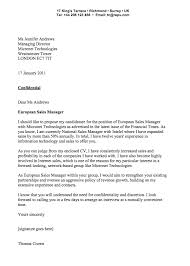 Sample Cover Letter For Sales Manager Business English Englishclub
