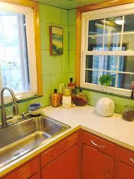 Green And Yellow Kitchen Ideas To Decorate Alans Vintage Green Tile Kitchen Vitralite