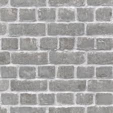 rasch brick effect grey wallpaper 213607