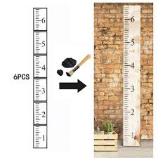 Sonnis 6ft Growth Chart Ruler Stencil 6pcs Hollow Out Ruler