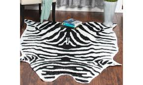 white black zebra faux cow hide soft area rug for bedroom home 5 x 6 6 feet black area rugs 5 x 6 6