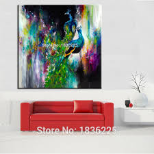 Painting For Living Room Compare Prices On Peacock Painting Online Shopping Buy Low Price