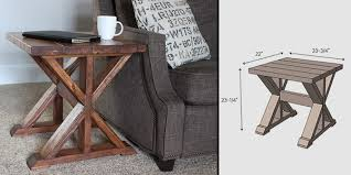 Make This: Simple DIY X Side Table