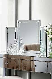 MY Furniture Mirrored Bedroom Furniture Triple Folding Dressing Table Mirror    COLLETA