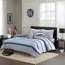 intelligent design paul 5 piece comforter set blue full queen