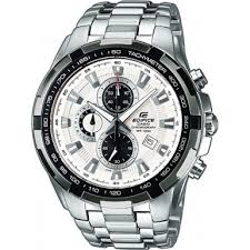 ef 539d 7avef casio mens edifice white silver chronograph watch casio ef 539d 7avef mens edifice white silver chronograph watch