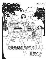Small Picture Memorial Day picnic coloring page Free Printable Coloring Pages