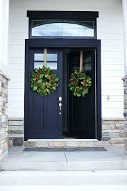 black front door with sidelightsFront Entry Doors  Home Inspiration Ideas