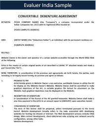 Legal Agreement Sample I Format