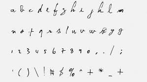 Cool Fonts To Write In Kurt Cobain And David Bowies Handwriting Feature In New