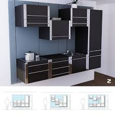 ... Kitchen Cabinets, Charming Black Rectangle Modern Wood Compact Kitchen  Cabinets Stained Design: compact kitchen ...