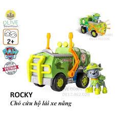 Bộ chó rời ROCKY + xe nâng phim Những chú chó cứu hộ - Paw Patrol giảm chỉ  còn 125,000 đ