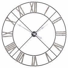extra large 110cm distressed aged metal roman numeral wall clock limited qty