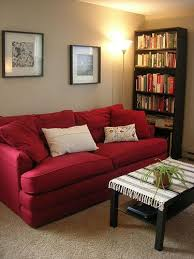 red couch living room red sofa living room
